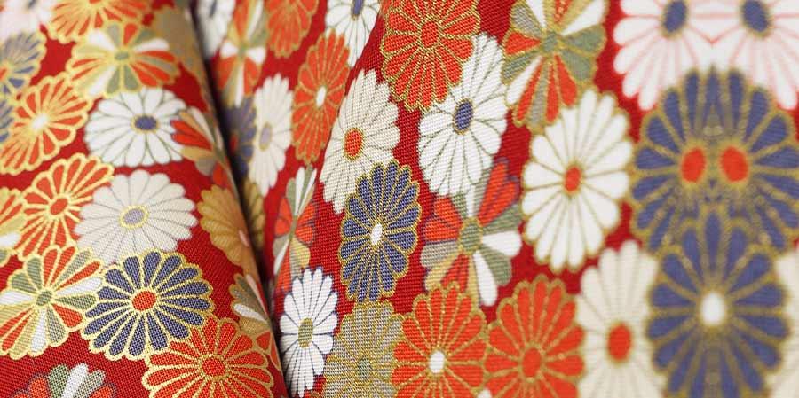 tissu japonais paquerettes Hinagiku red laboutiquedemelimelo