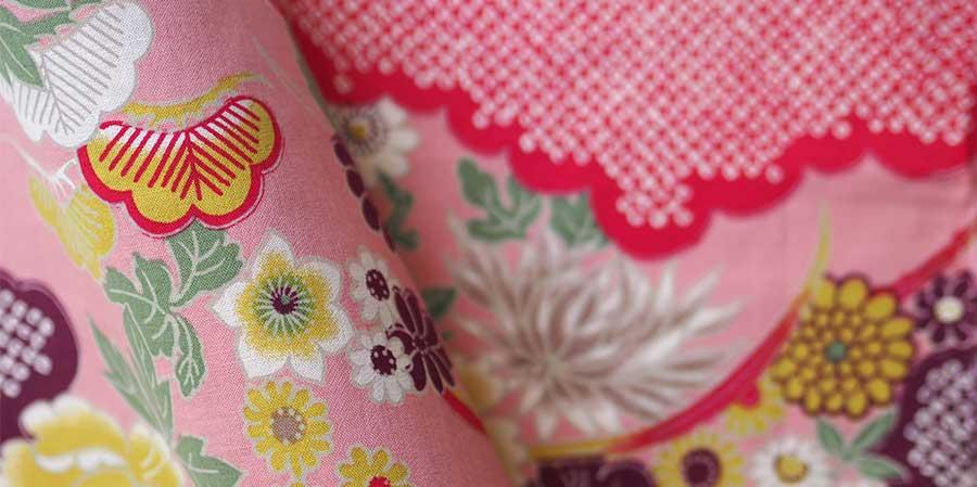 tissu japonais pivoine hinagiku rose laboutiquedemelimelo