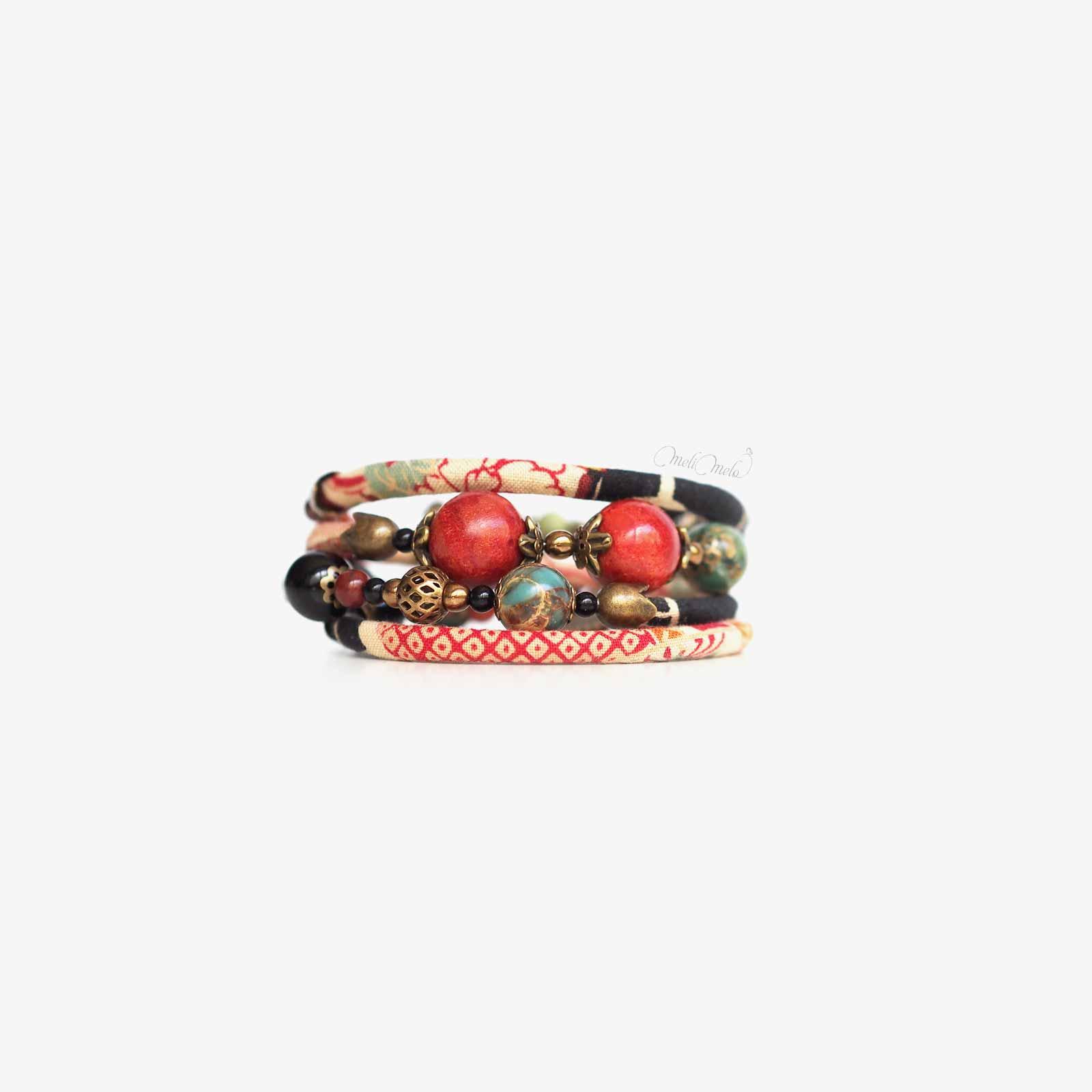 bracelet Kajou corail jaspe Mariigourudo laboutiquedemelimelo