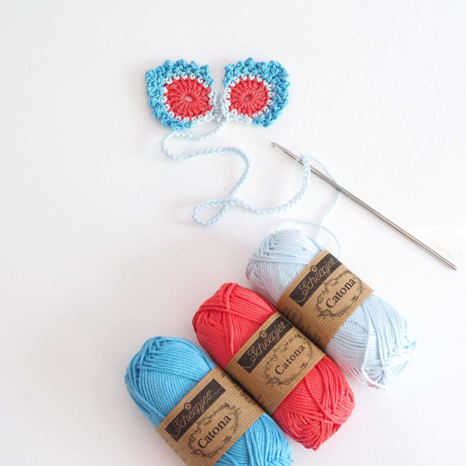 marque-pages wip double plume paon crochet coton laboutiquedemelimelo
