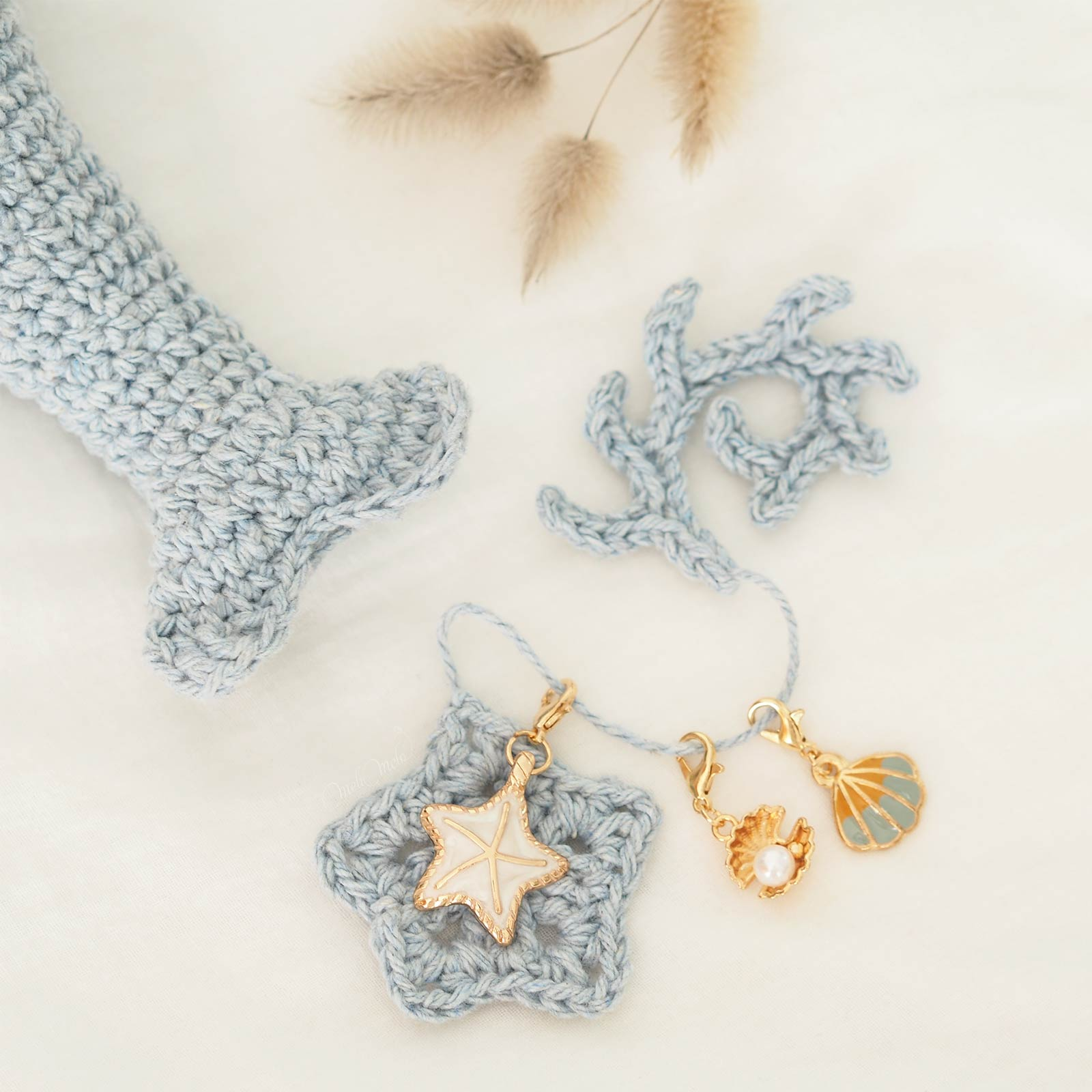 marqueur-tricot-crochet-ocean--coquillage-etoile-mer-kraftiaramarkers