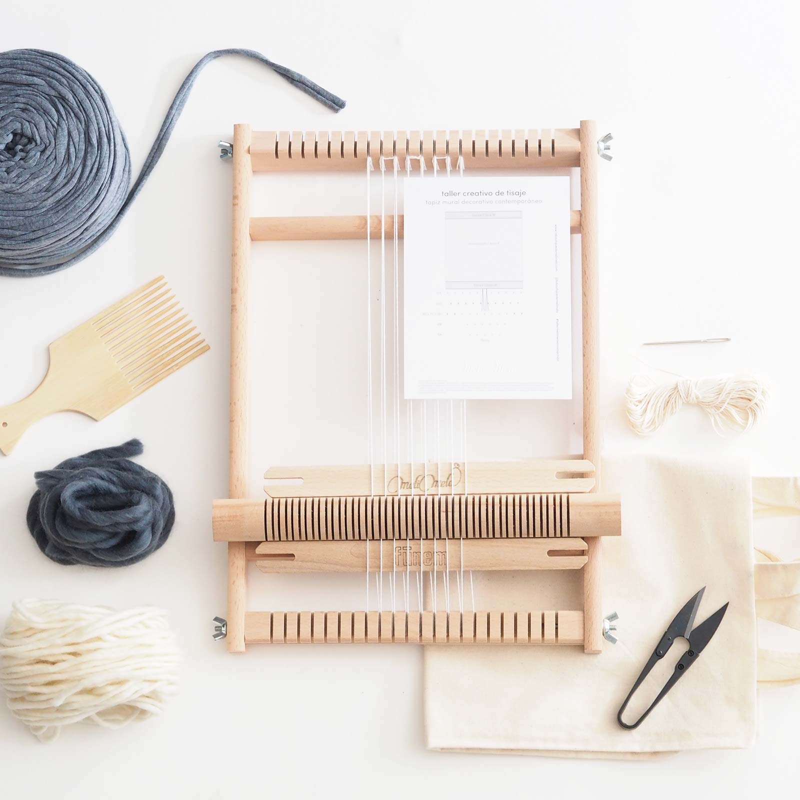material talleres kit tisaje dos telares decorativos laboutiquedemelimelo