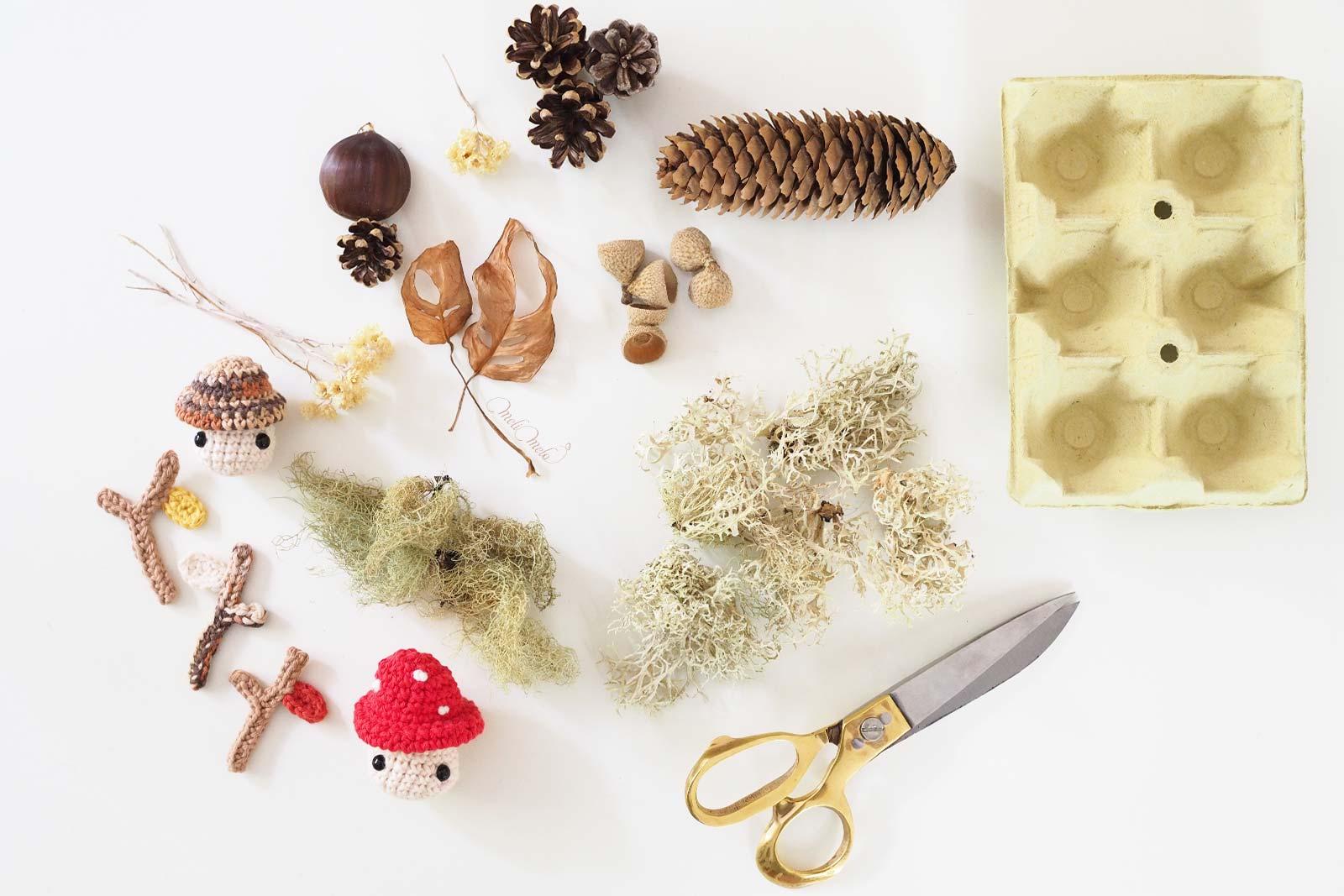 materiel-tresor-nature-deco-automne-amigurumi-champignon-laboutiquedemelimelo