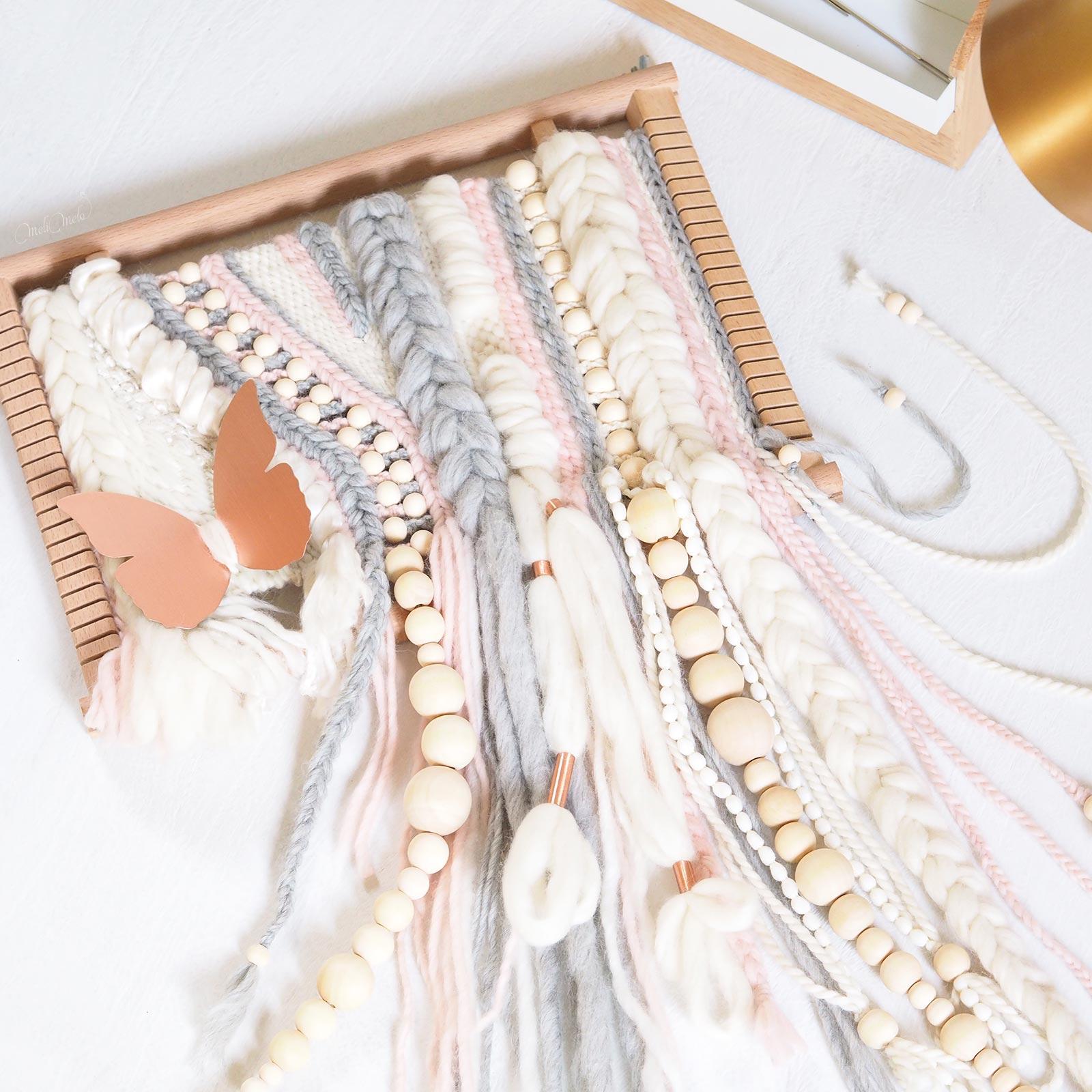 tissage perles en bois laine plassard woolandthegang handweaving on the loom laboutiquedemelimelo