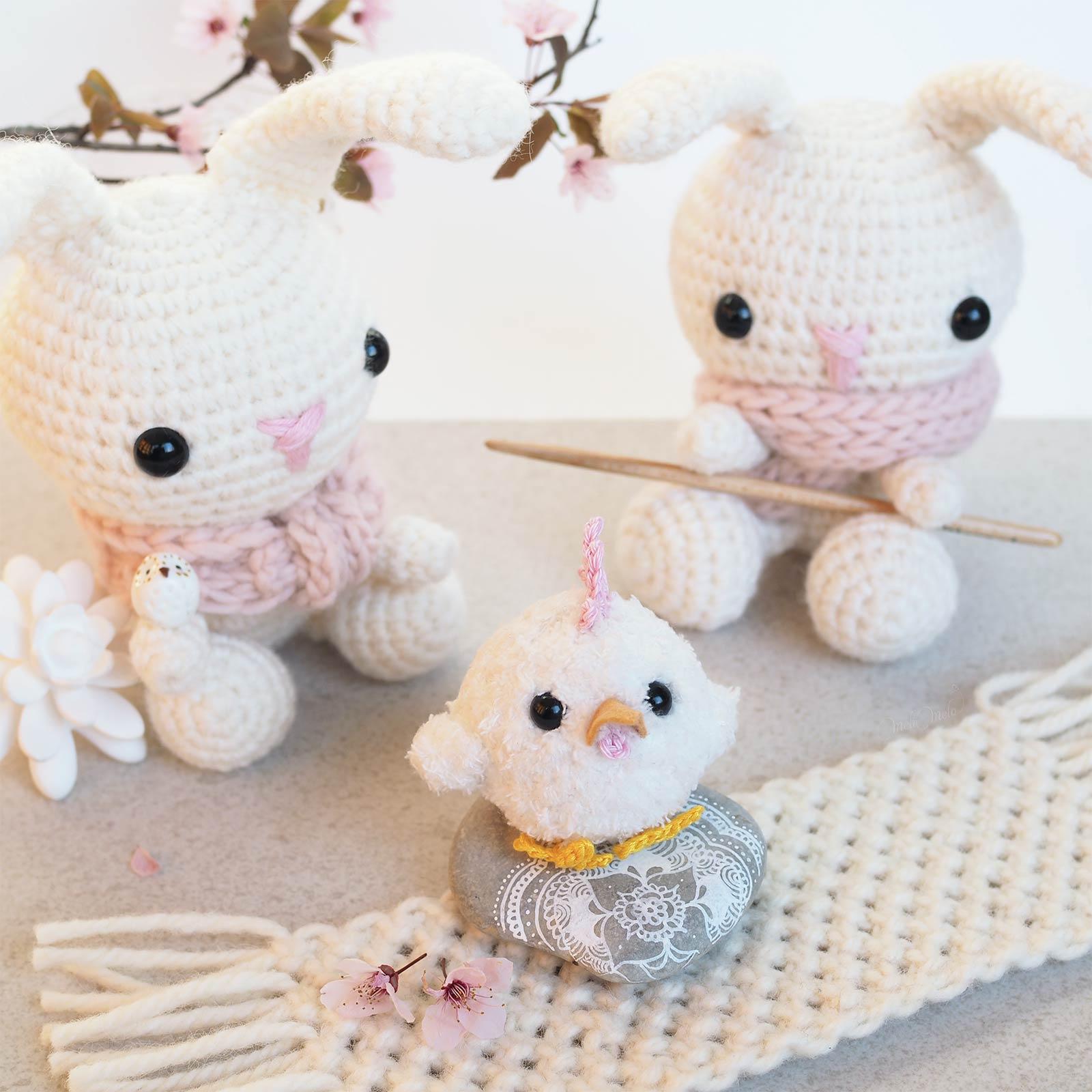 mignonnerie lapins poussin crochet printemps Pâques laboutiquedemelimelo