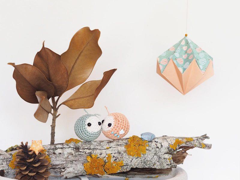 aphid pucerons crochet amulette de poche diamant origami laboutiquedemelimelo