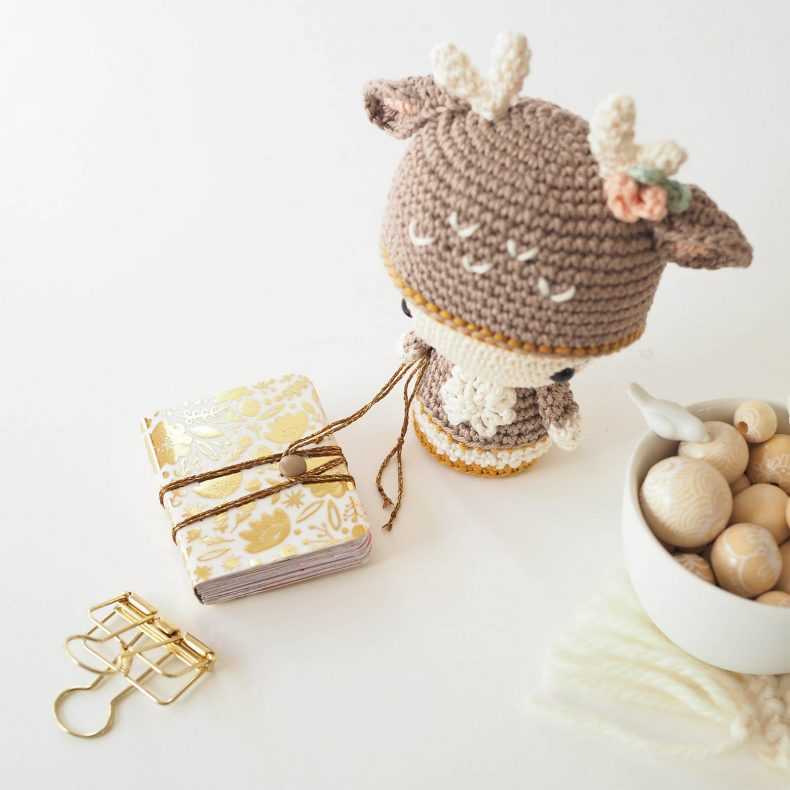 mini album photo mots doux or scrapbooking biche crochet laboutiquedemelimelo
