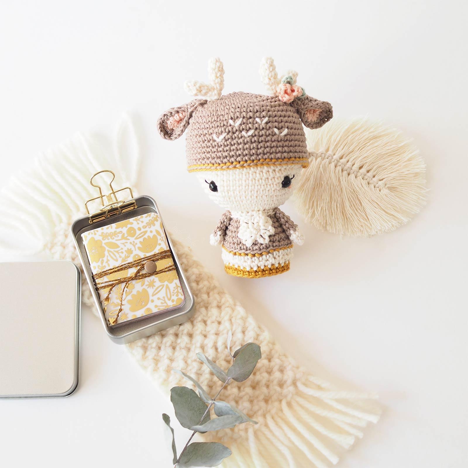 mini album scrapbooking crochet biche annie deer Aradiya Toys laboutiquedemelimelo