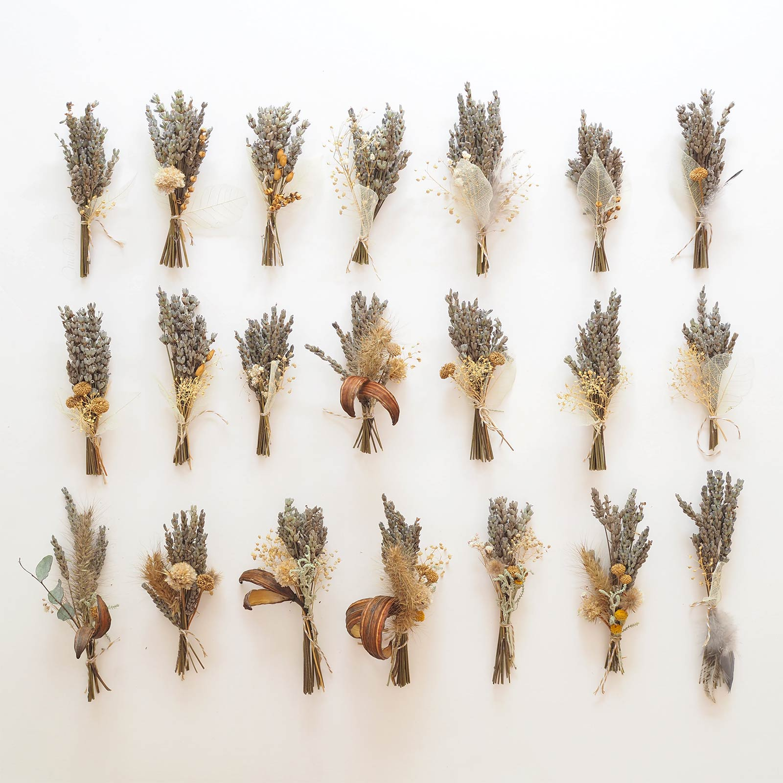 mini bouquets lavande herbes graminées présentation paquets mélimélotés laboutiquedemelimelo