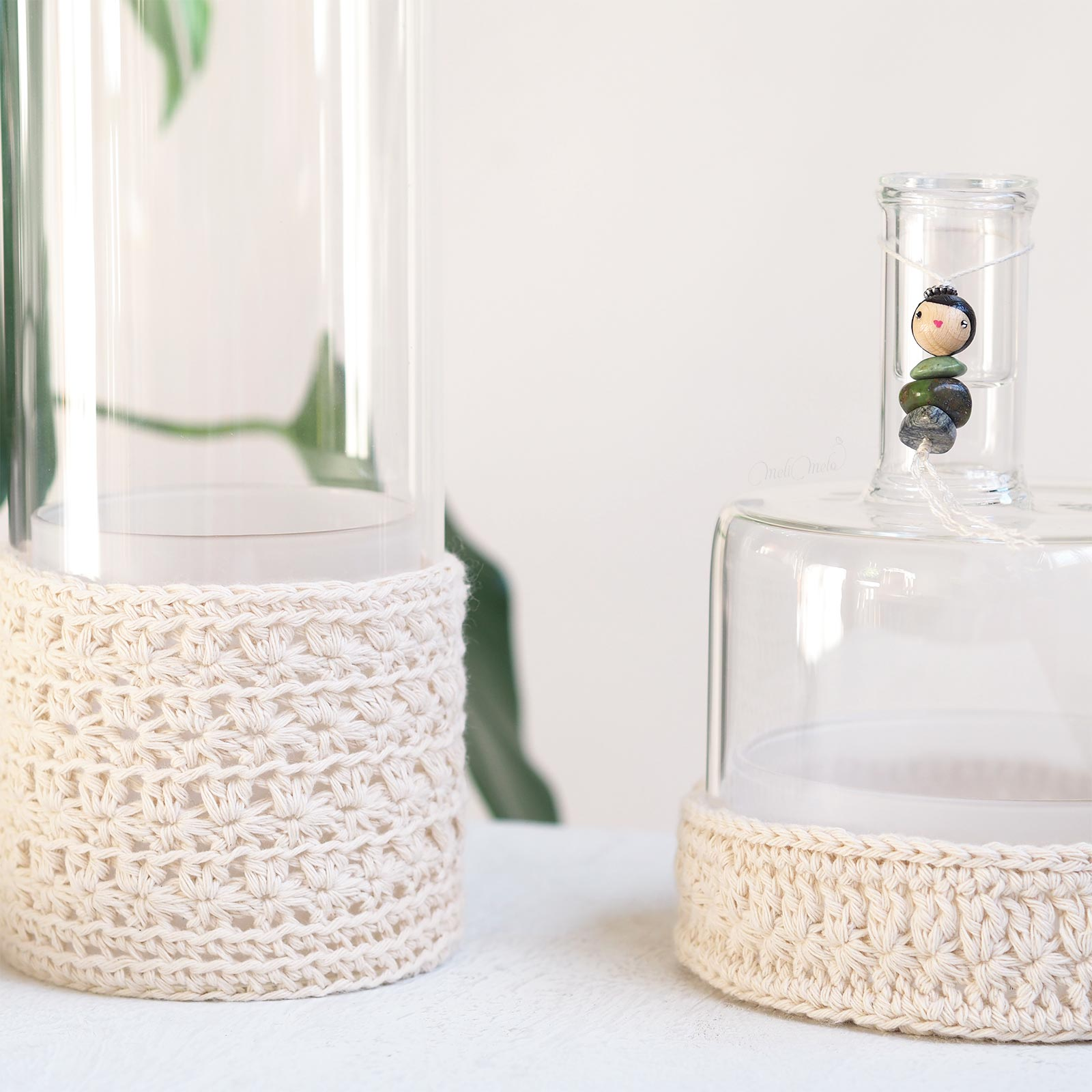 cache-pot crochet point étoilé mini serre vase déco Ichendorf Les Pois Plumes laboutiquedemelimelo