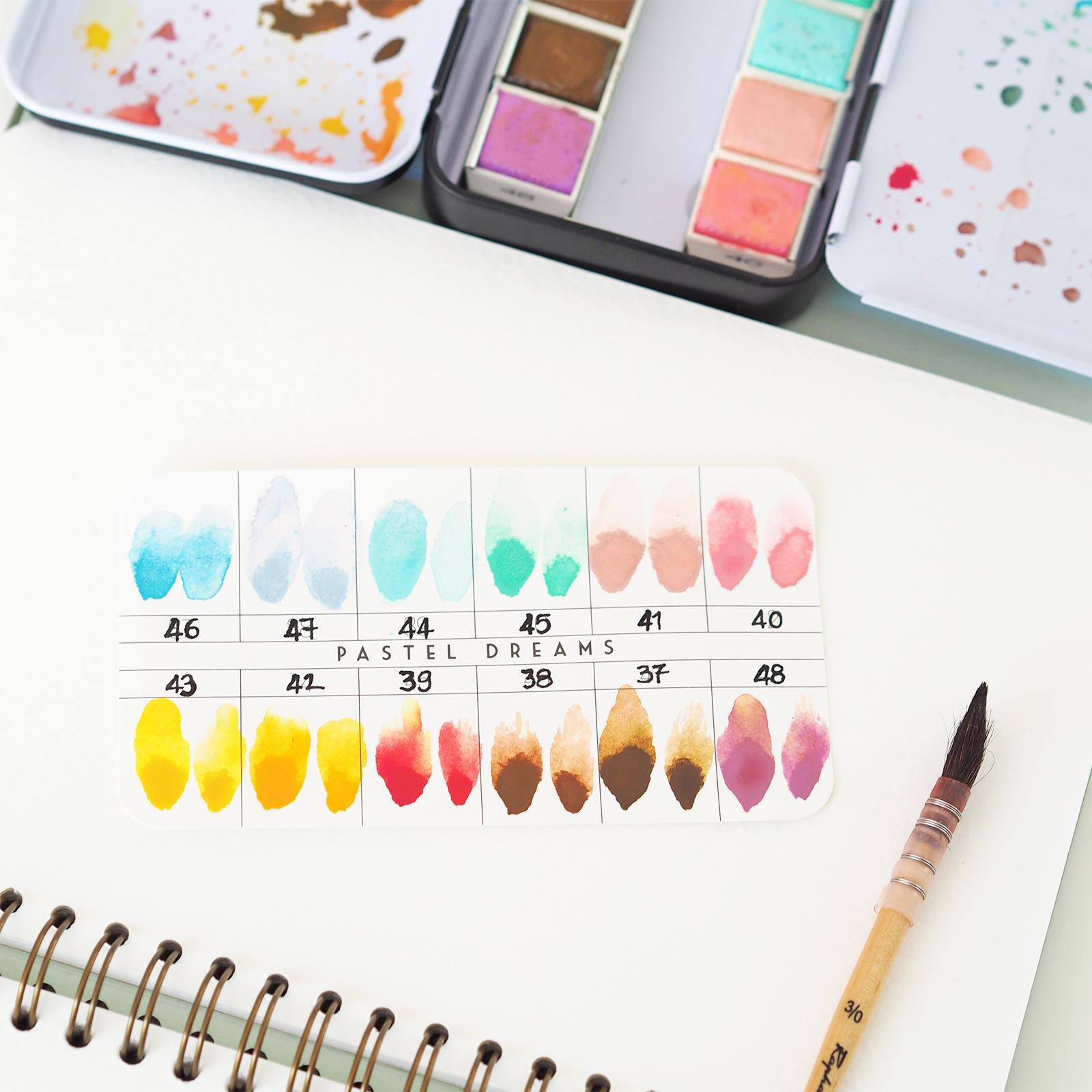 nuancier aquarelle watercolor-pastel-dreams-confections-prima-laboutiquedemelimelo