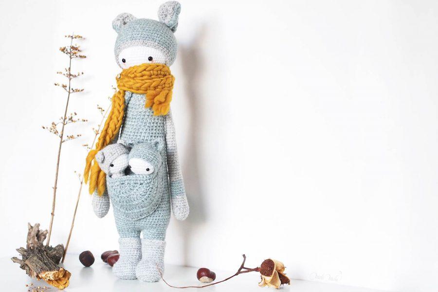 papa kangourou lalylala kira jumeaux crochet forêt laboutiquedemelimelo