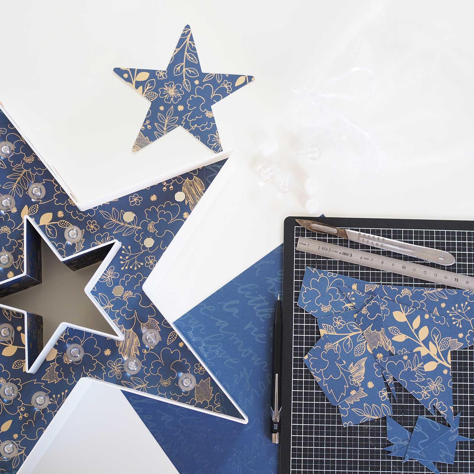 papier-scrapbooking-bleu-nuit-or-dear-lizzy-foil-laboutiquedemelimelo