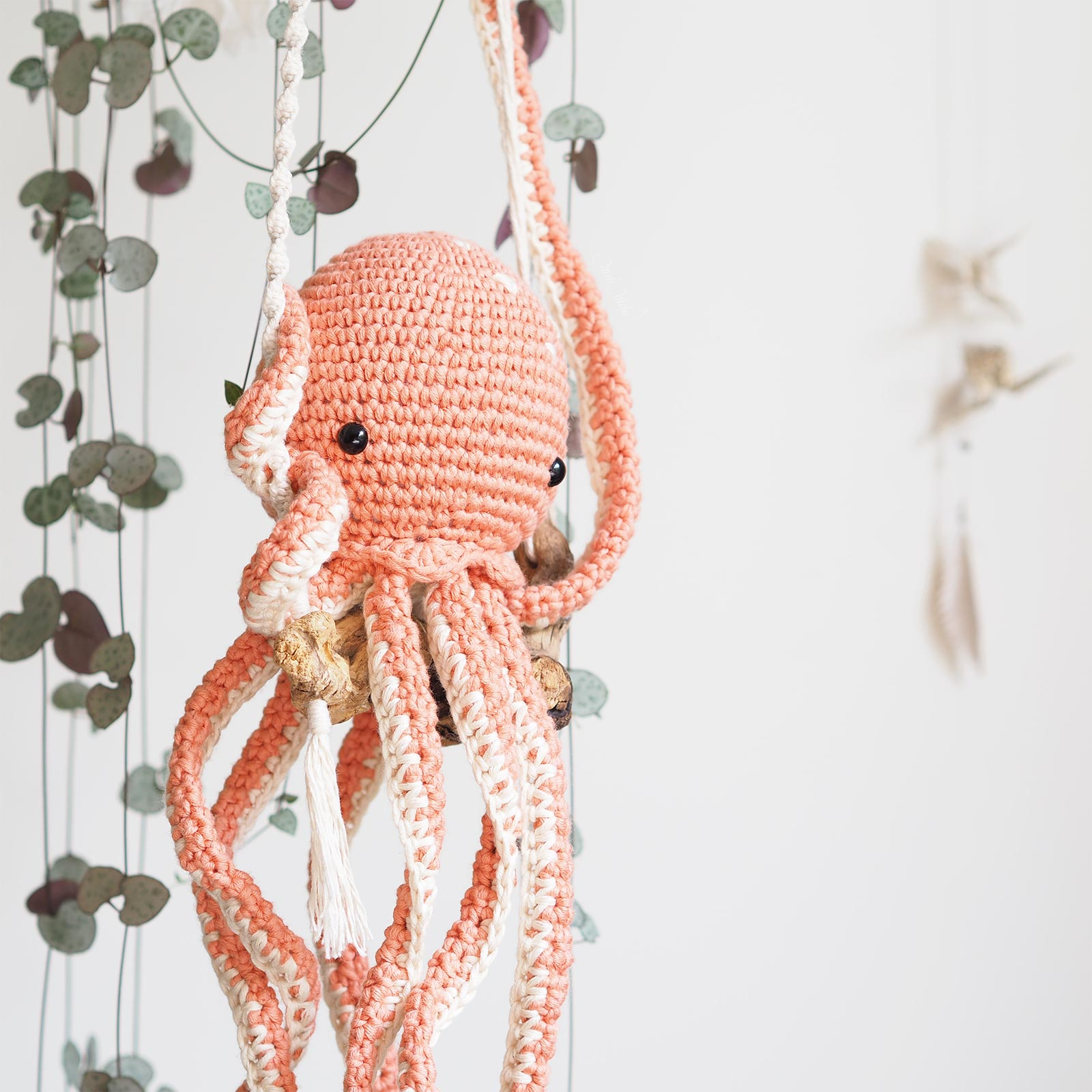pieuvre poulpe octopus crochet coton Pima saumon We Are Knitters laboutiquedemelimelo