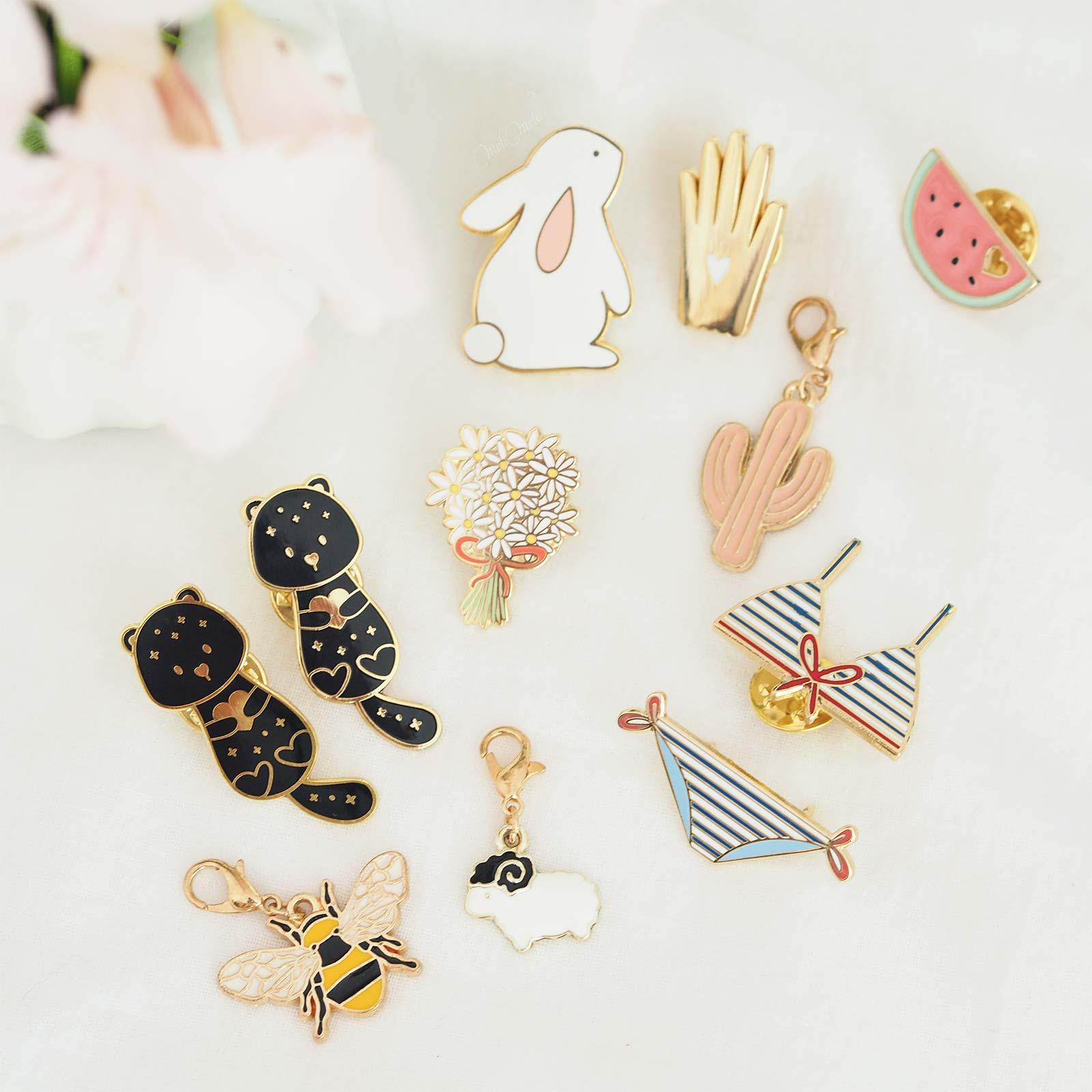 pins marqueurs tricot atelier mouette paulina choleva kraftiara markers loutre abeille mouton cactus pastèque lapin bikini laboutiquedemelimelo