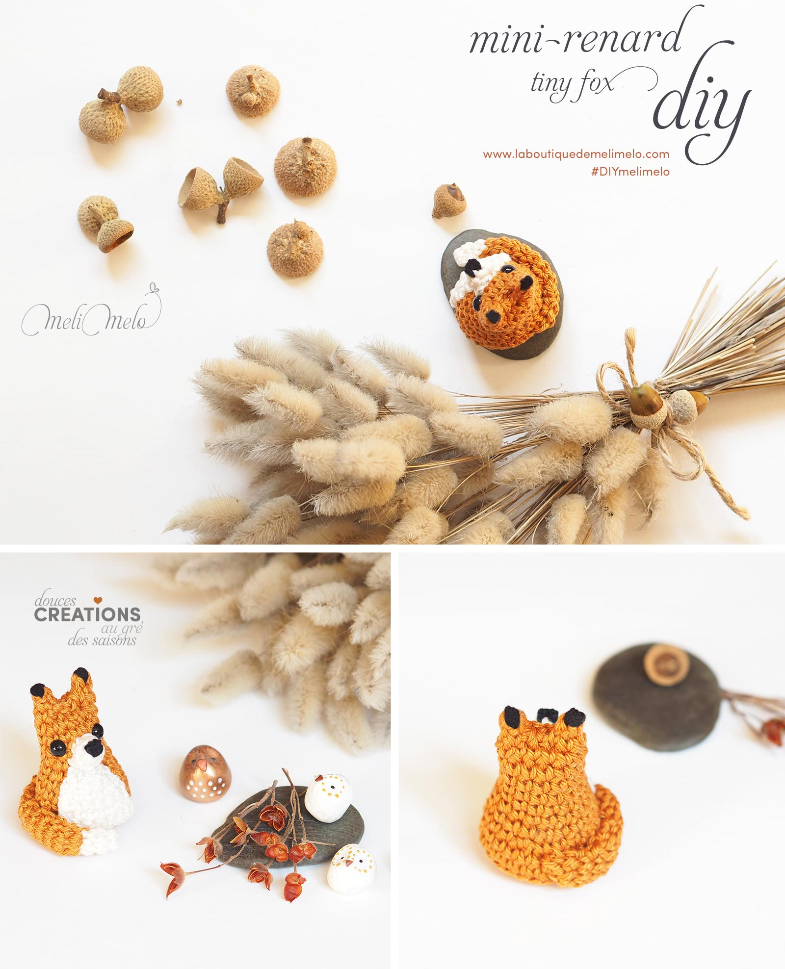 pinterest La Boutique de MeliMelo DIY tuto crochet tiny fox mini renard