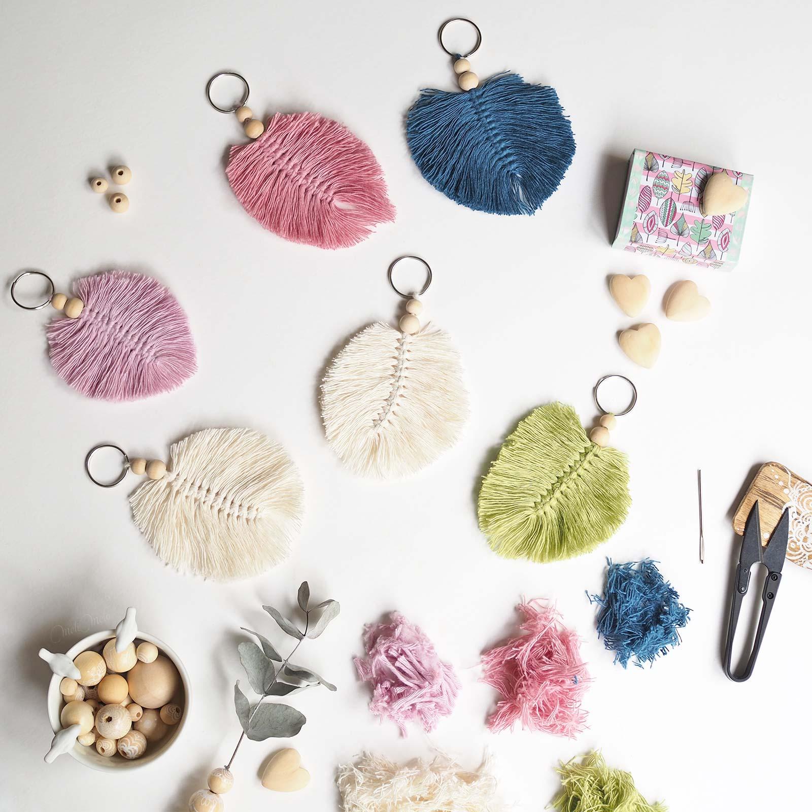 plumes macramé coton couleurs laboutiquedemelimelo