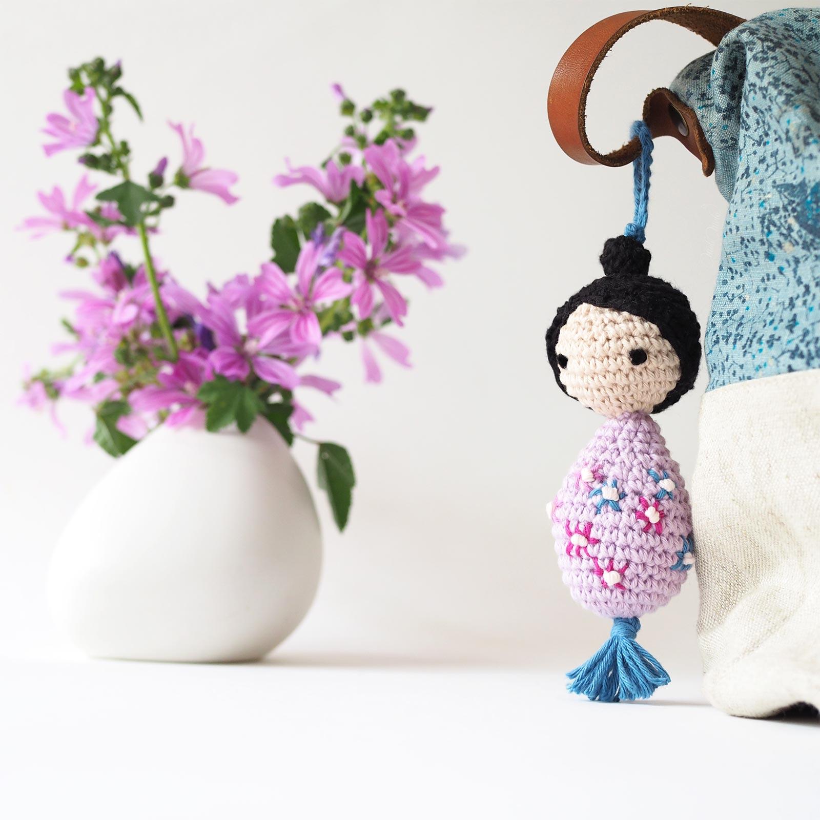 poupée fleurie printemps Les Pois Plumes Ricorumi Ricodesign laboutiquedemelimelo