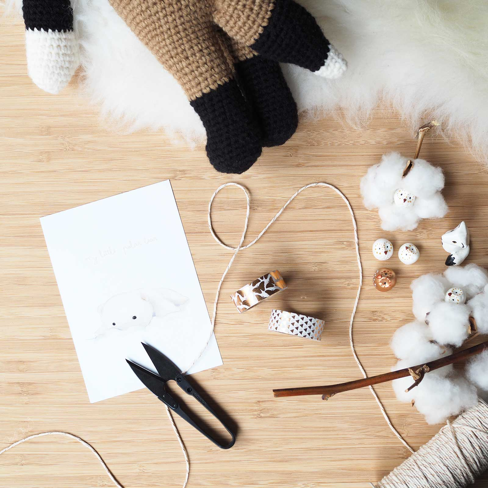 présentation renard doudou crochet illustration latortuguita blanca laboutiquedemelimelo