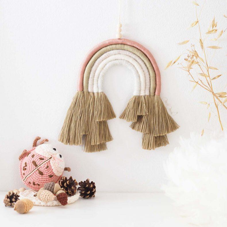 rainbow-kit-DIY-arc-en-ciel-kaki-rose-laine-coton-organique-laboutiquedemelimelo