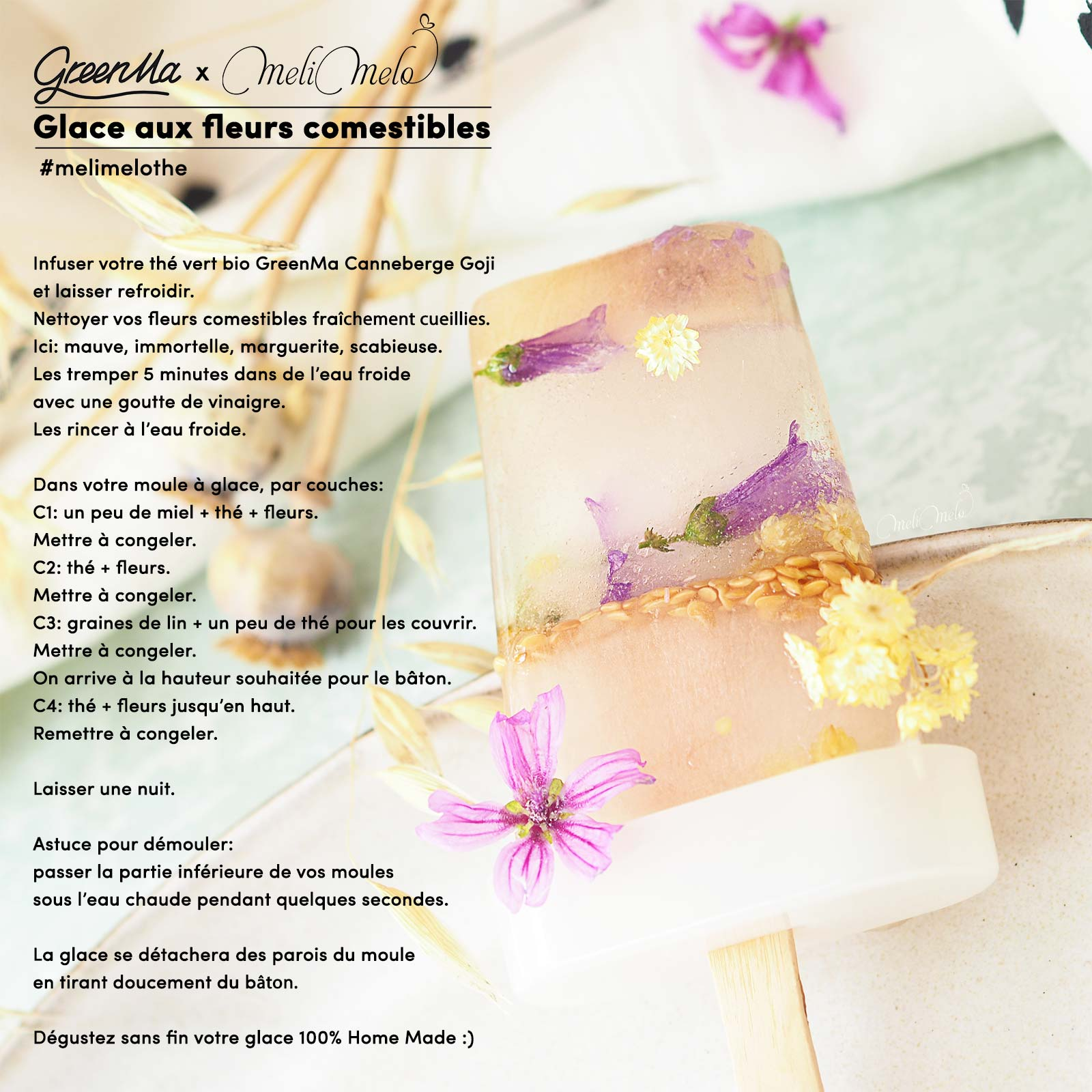 recette-glace-fleurs-comestibles-the-vert-bio-canneberge-goji-greenma-france-laboutiquedemelimelo