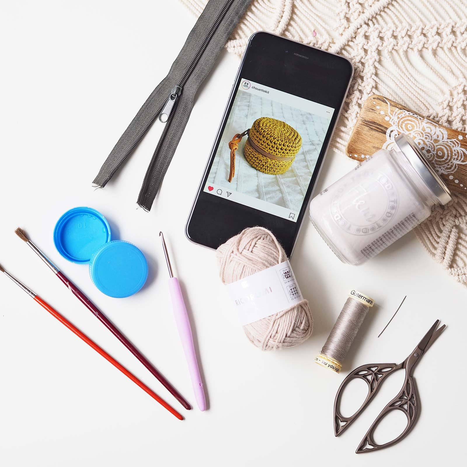 recycling reuse étui boitier crochet chouettekit Boutique MeliMelo