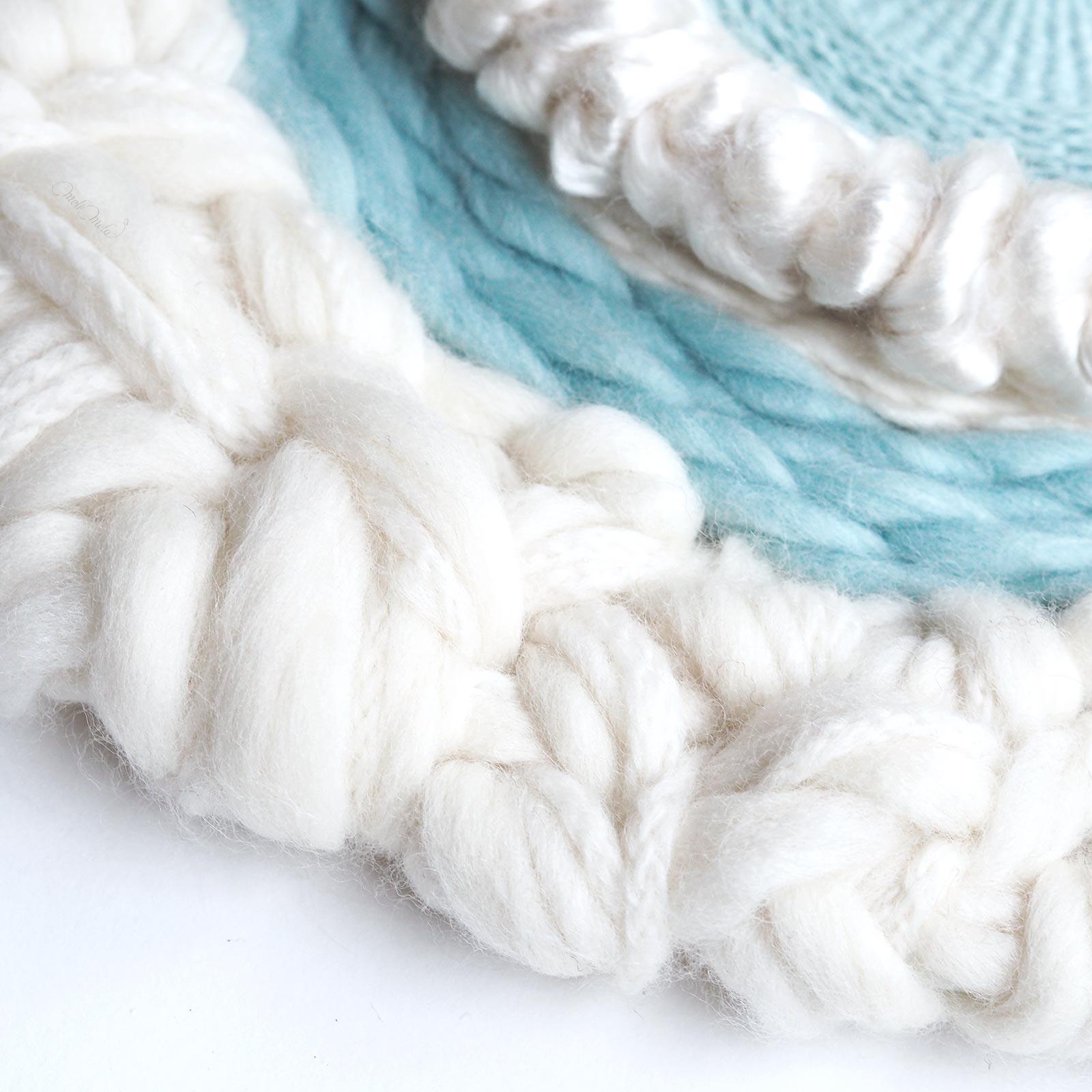 Round weaving tissage circulaire Lune soie enlainée Funem Studio wool woolandthegang weareknitters string harvest laboutiquedemelimelo