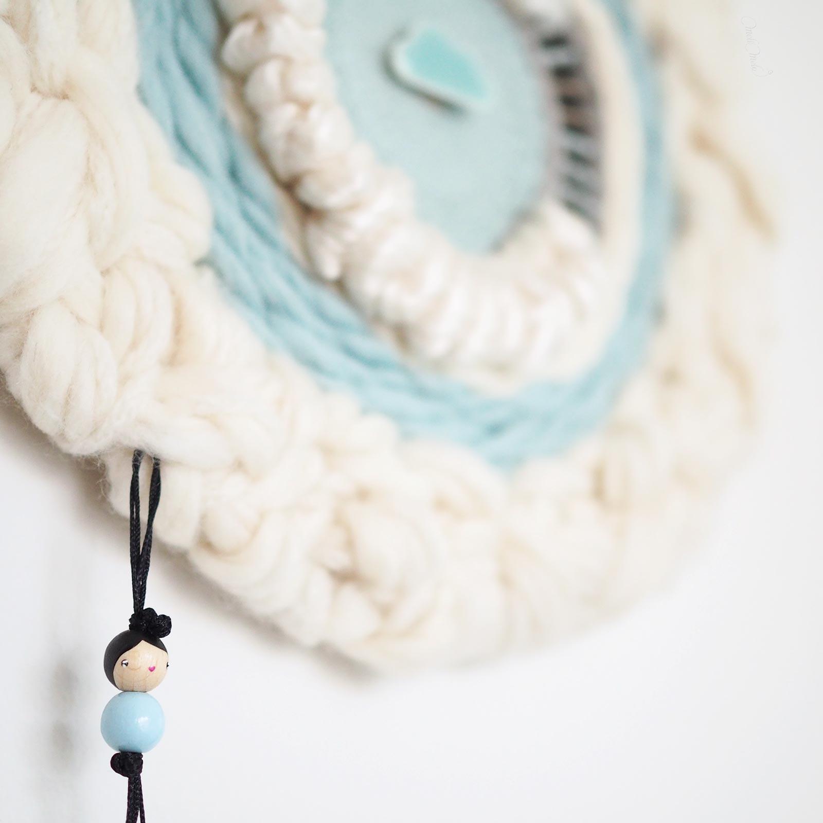 Round weaving tissage circulaire Lune poupée Les Pois Plumes laboutiquedemelimelo