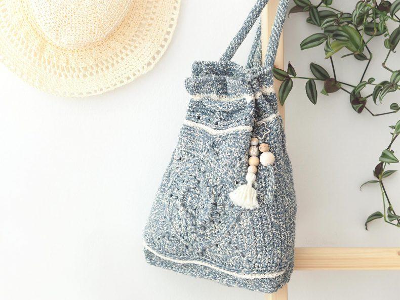 Wildrose backpack La Boutique de MeliMelo yarn Billie Jean Wool and the Gang