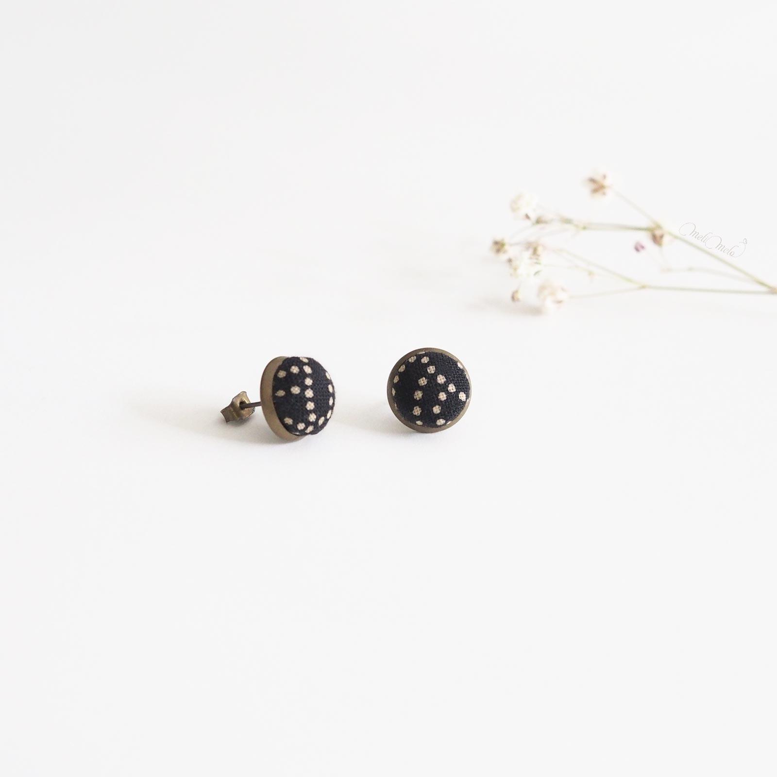 puces oreilles seikaiha black pois tissu japonais laboutiquedemelimelo