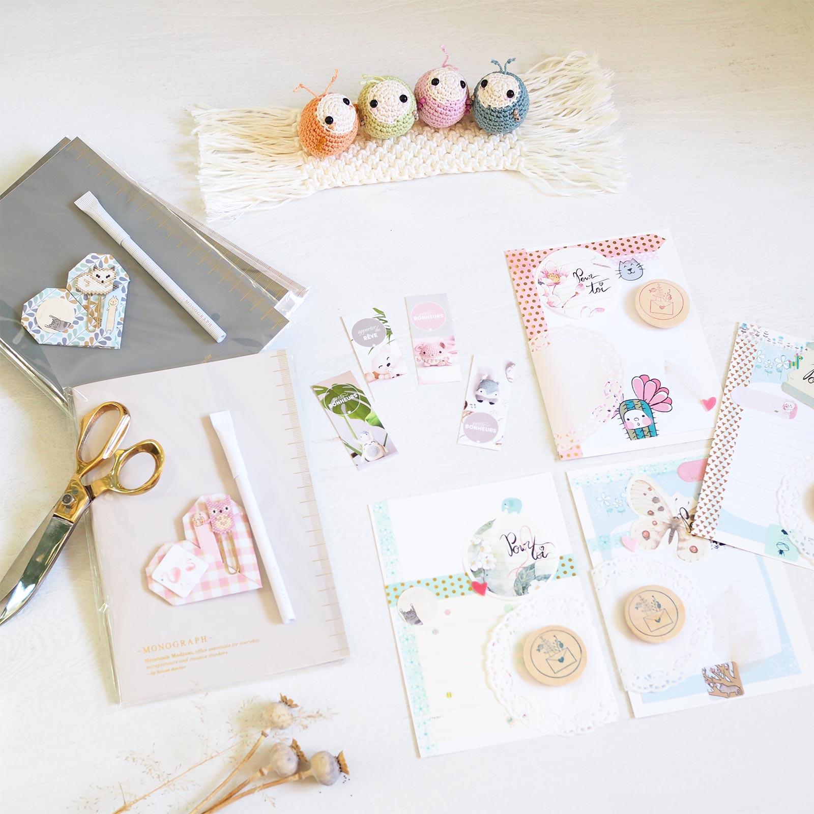 tissage Miyuki papeterie Monograph House Doctor créations enlainées crochet macramé teaforyoubijoux laboutiquedemelimelo