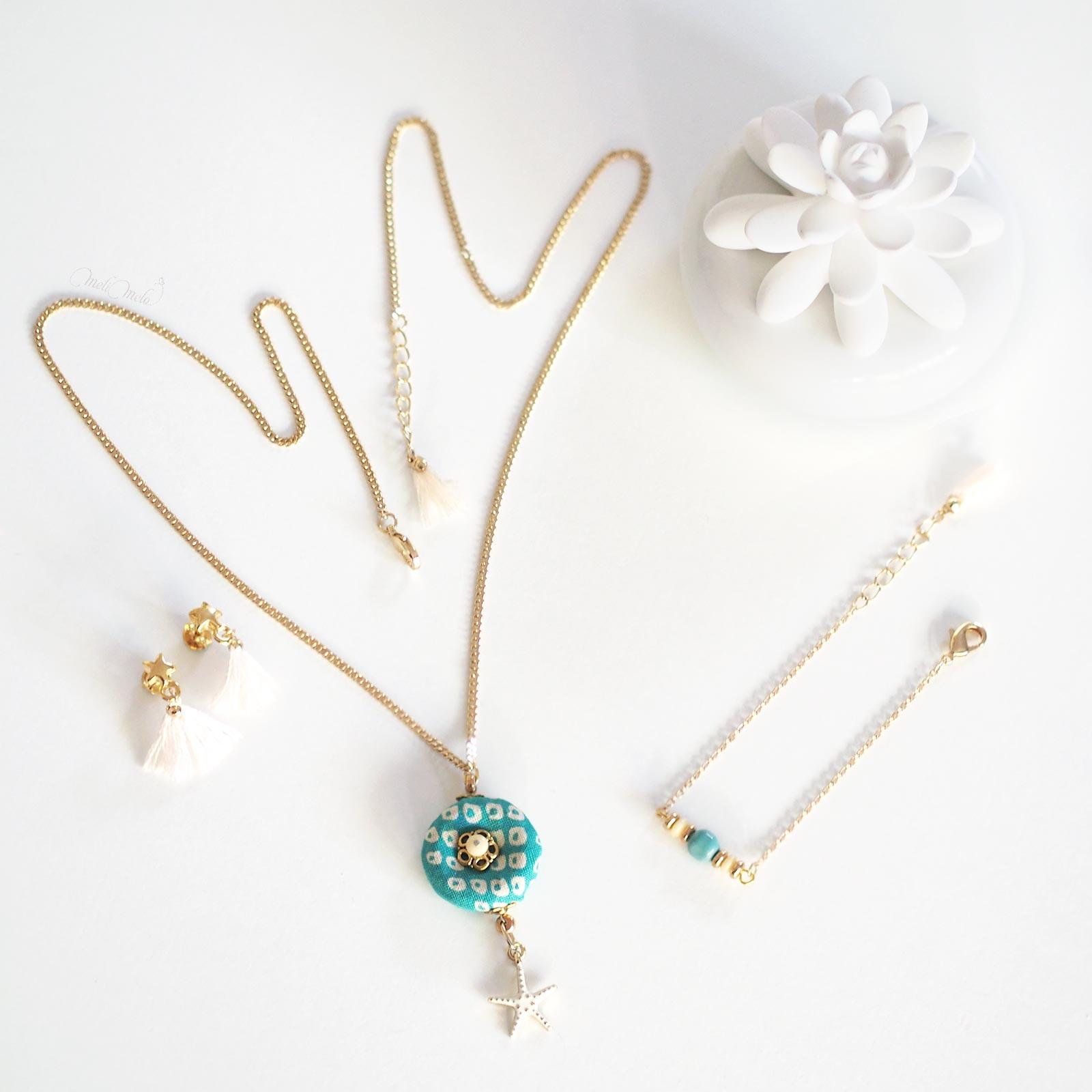 bijoux étoile de mer pompons or Shakuyaku argent laboutiquedemelimelo