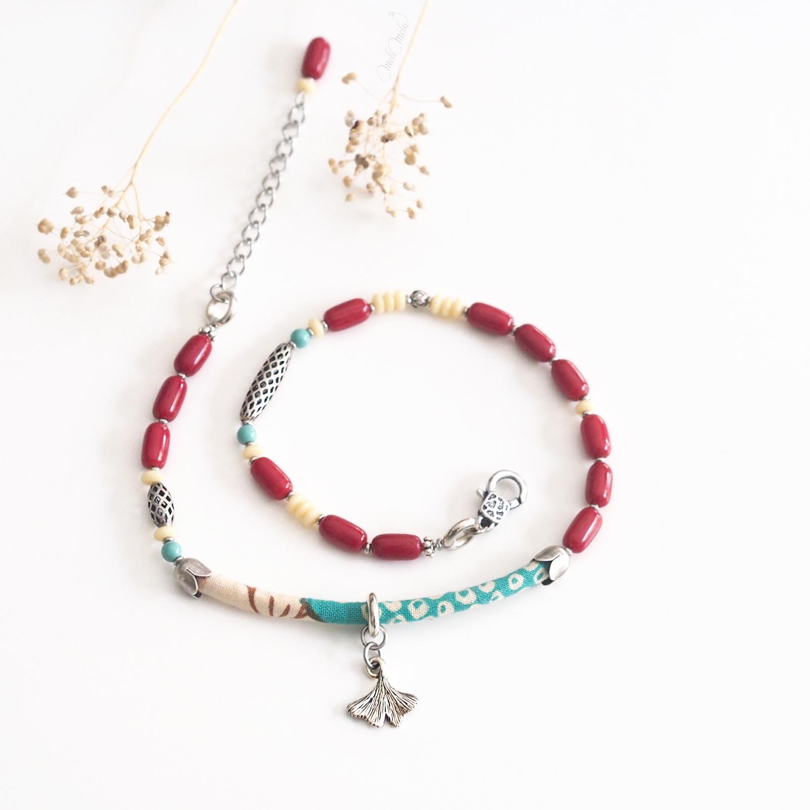bracelet ginkgo Shakuyaku argent laboutiquedemelimelo