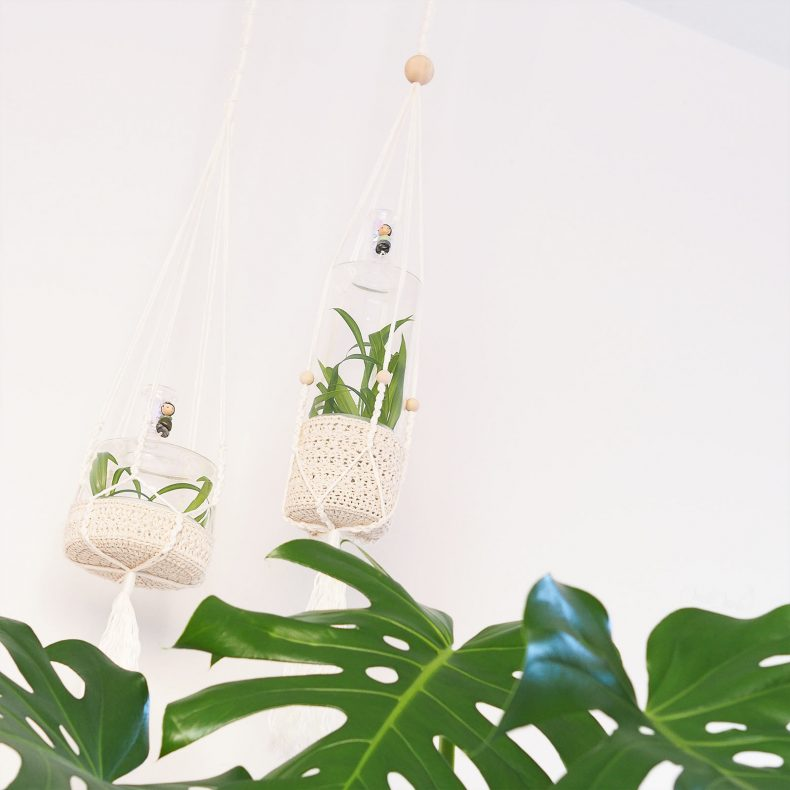 suspension mini-serre macramé crochet vase Ichendorf Monstera Deliciosa laboutiquedemelimelo