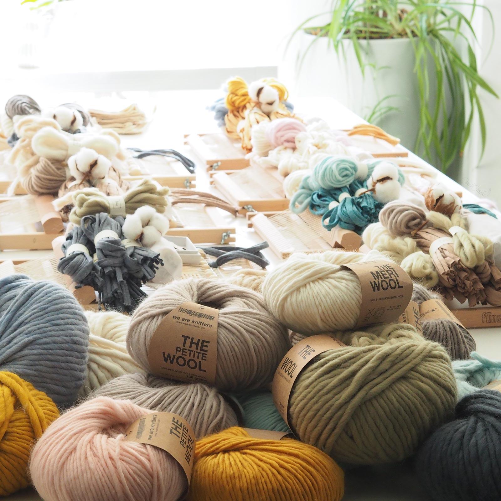 taller de tisaje de telares kit lanas weareknitters laboutiquedemelimelo en Valladolid
