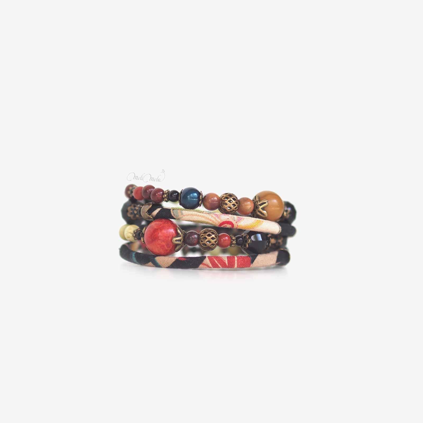 bracelet Kajou corail laboutiquedemelimelo