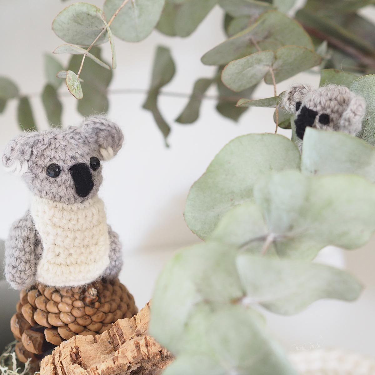 crochet tiny koalas support australia boutique melimelo