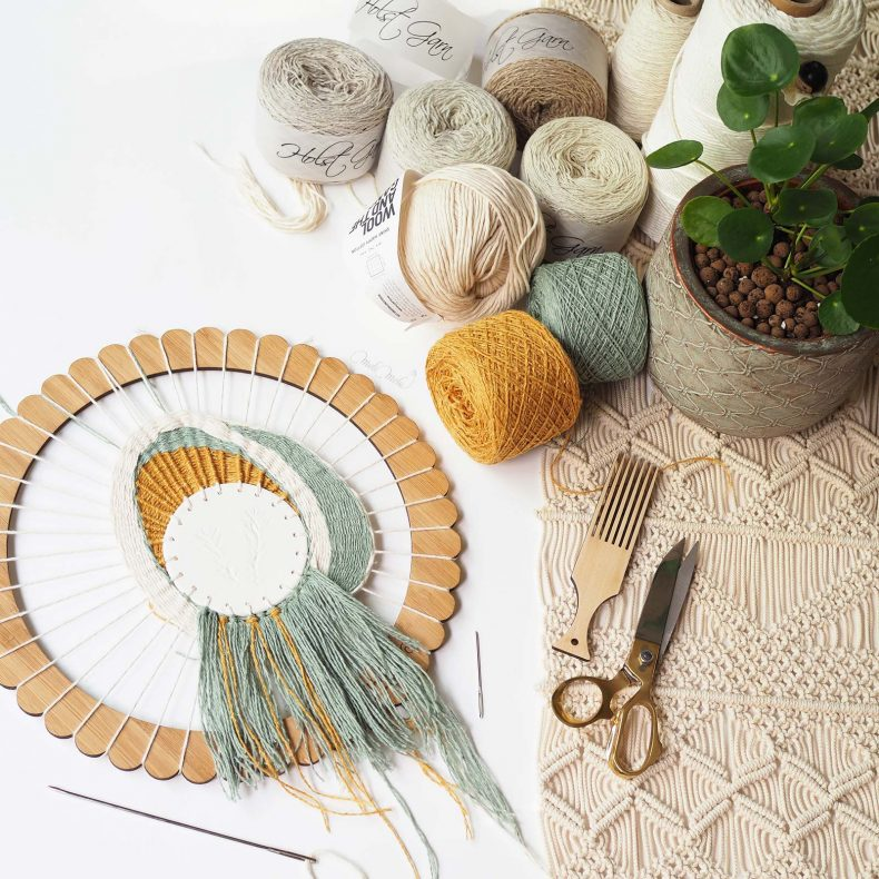 tissage circulaire céramique encours round weaving koel magazine string harvest yarn laboutiquedemelimelo