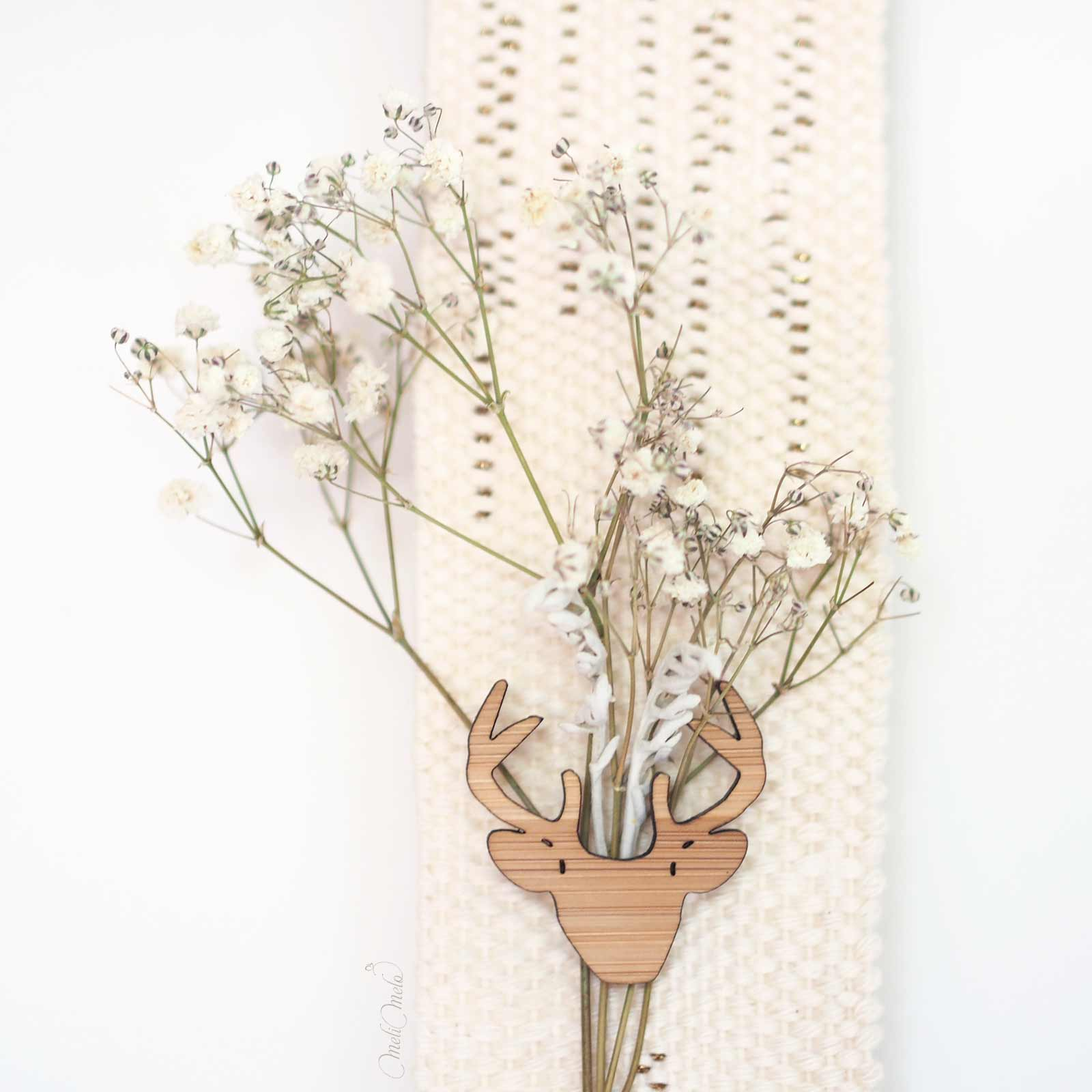 tissage coton or cerf detail bambou onehappyleaf gypsophile laboutiquedemelimelo