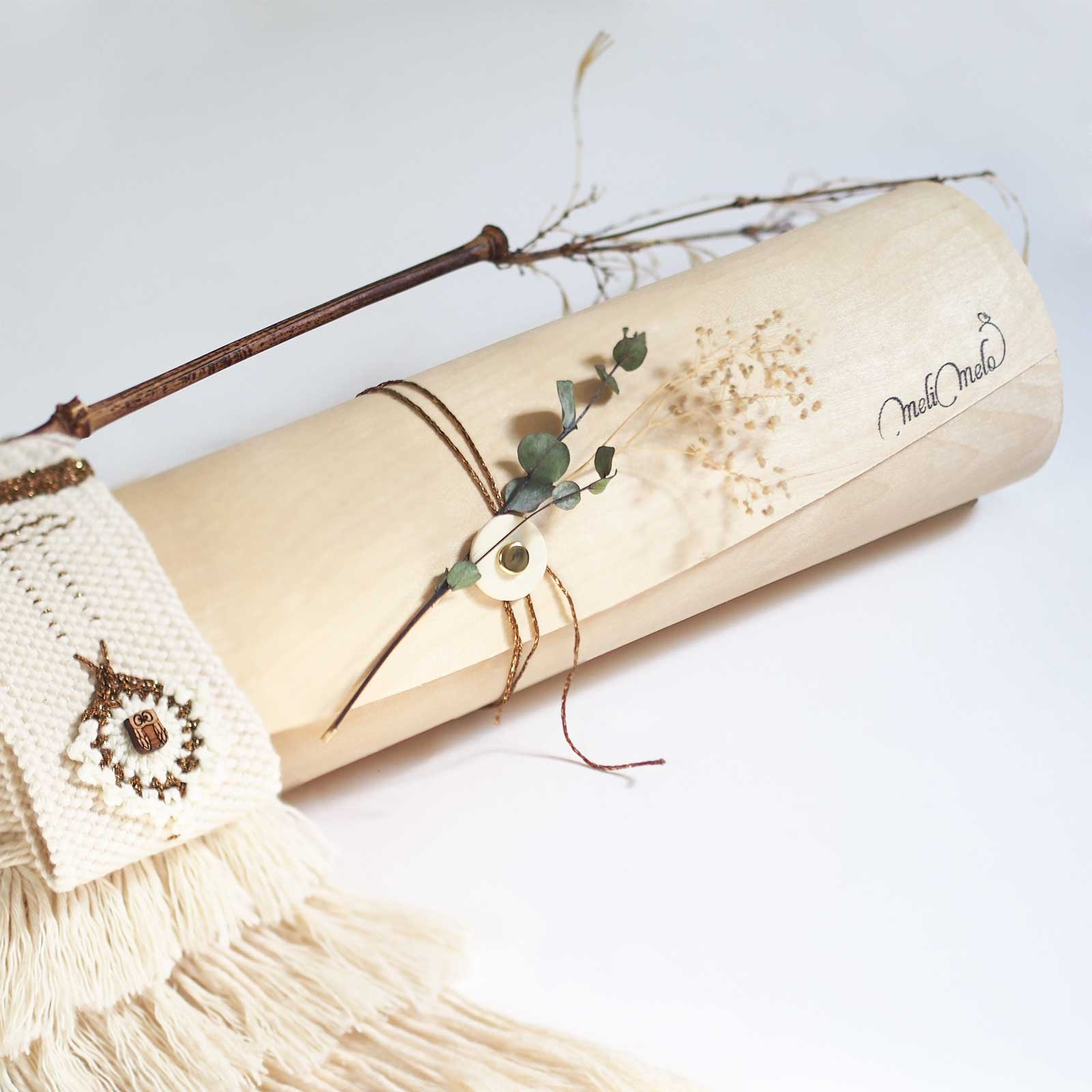 Écrin tissage coton Pluie d'or laboutiquedemelimelo