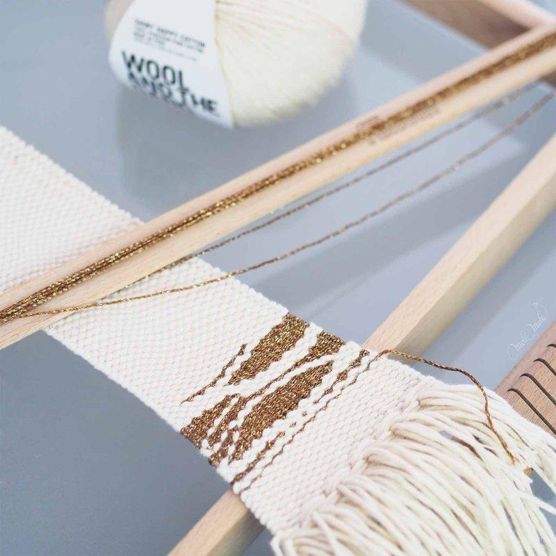 tissage coton or ontheloom woolandthegang laboutiquedemelimelo