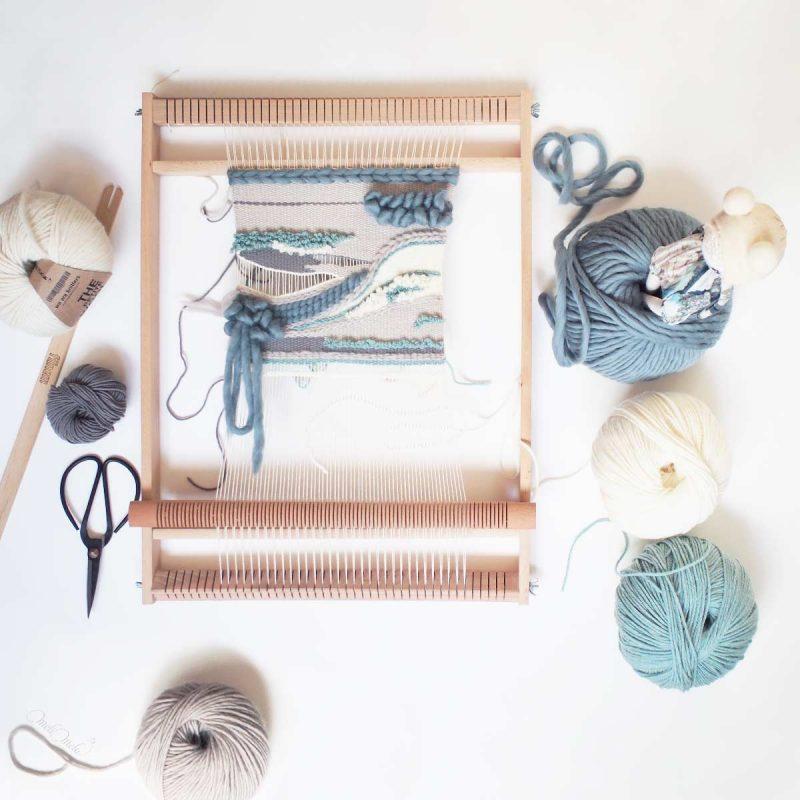 tissage laine blue weaves en cours weareknitters laboutiquedemelimelo