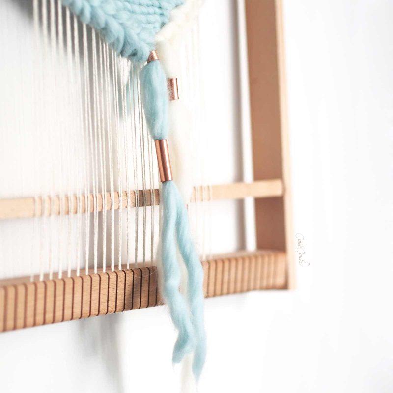 tissage laine cuivre nuage métier tisser laboutiquedemelimelo