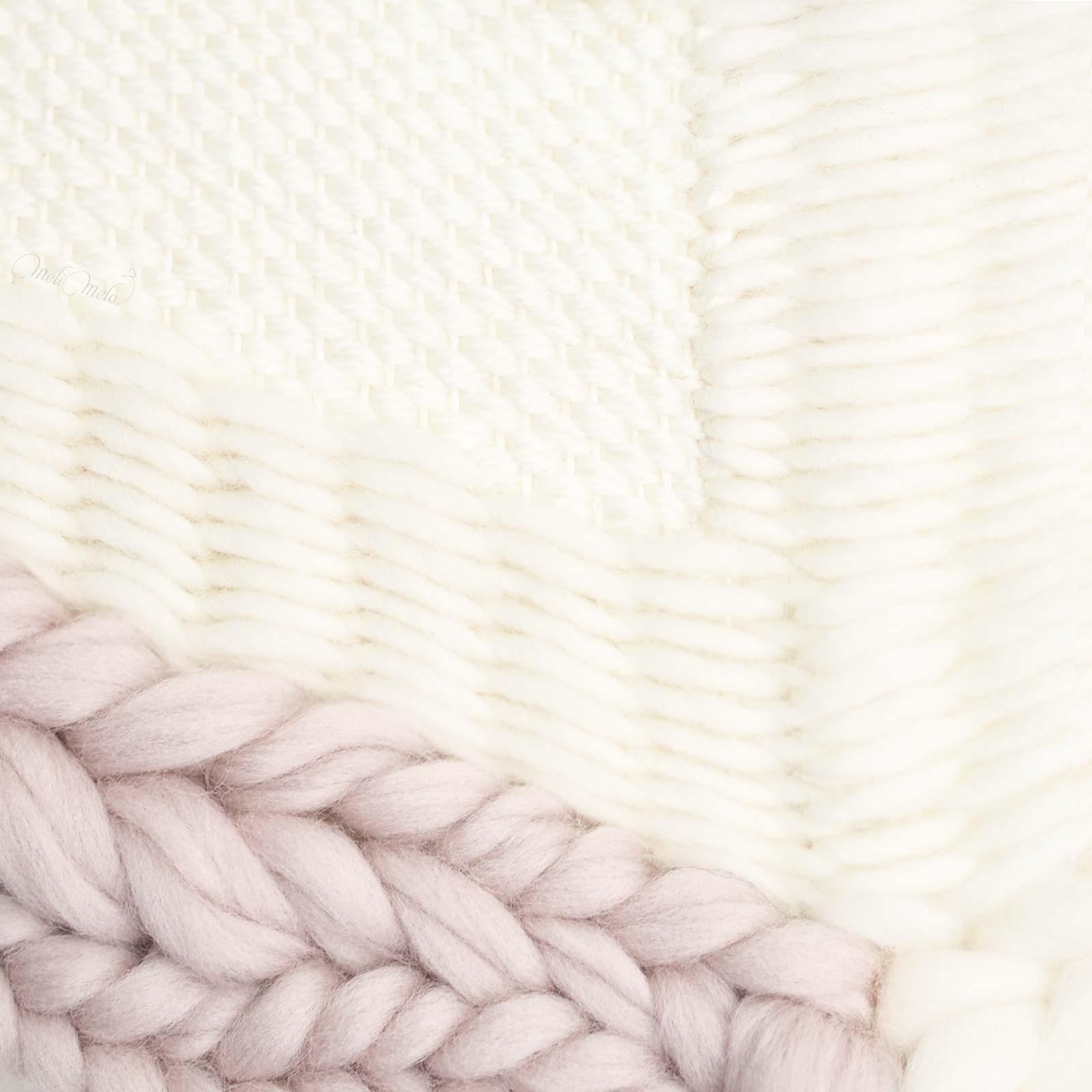 tissage laine cuivre perle et lune détail weareknitters wool laboutiquedemelimelo