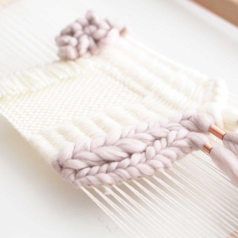tissage laine cuivre perle personnalisation laboutiquedemelimelo