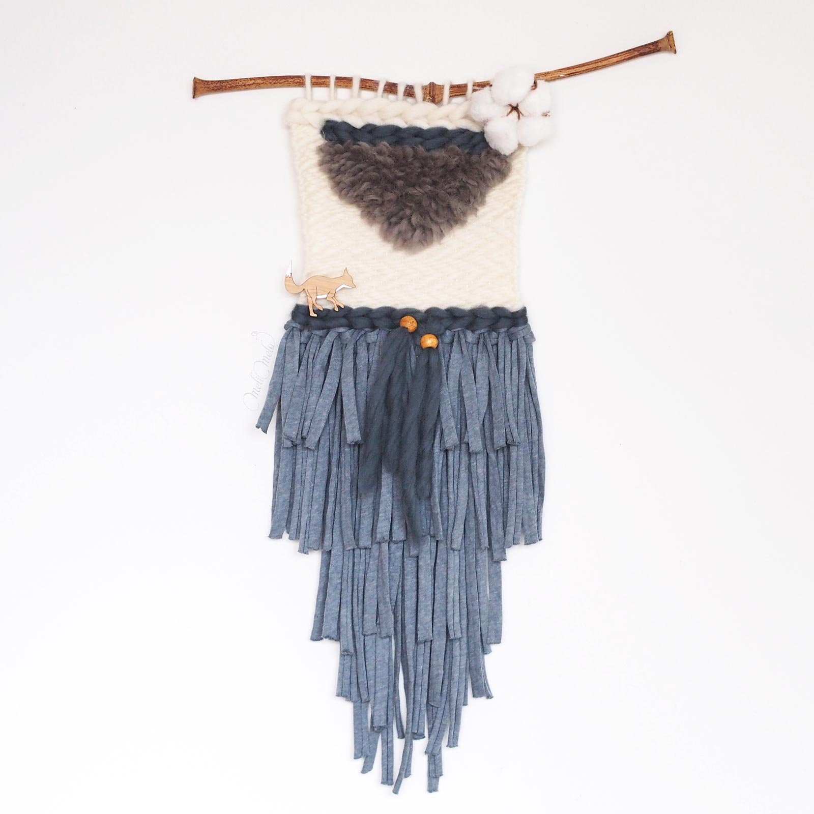 Tissage laine fleur de coton d coration murale la for Decoration murale laine