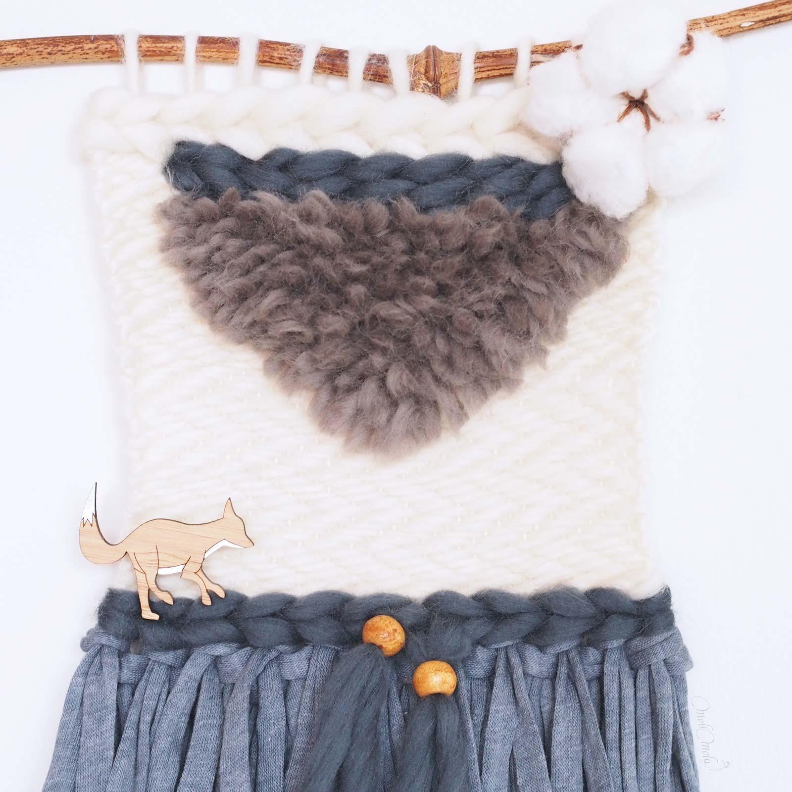 tissage laine Renard Fleur de coton qutuun blue bambou laboutiquedemelimelo