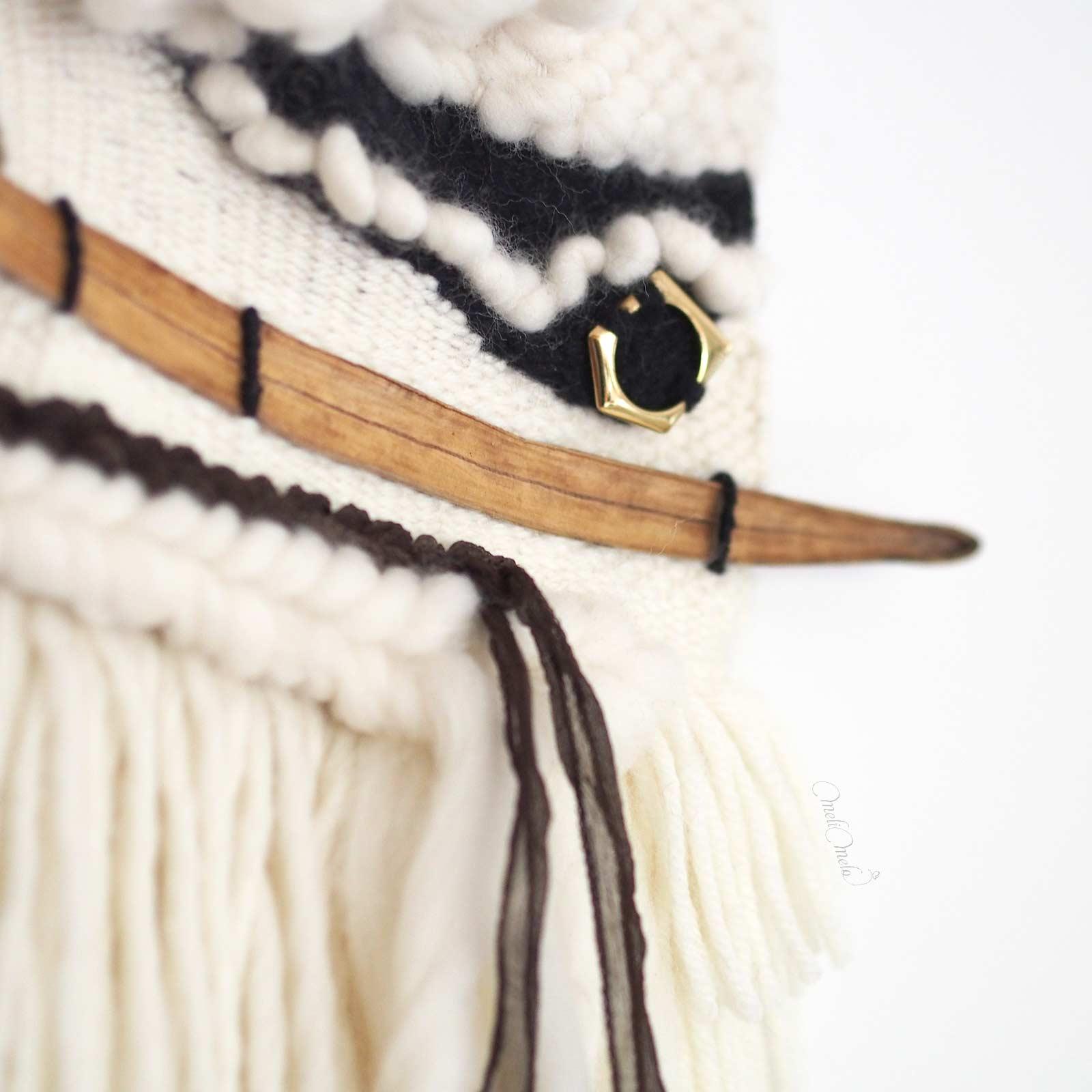 tissage laine lune d'or détail laboutiquedemelimelo