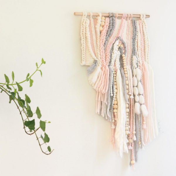 tissage laine Sweetpoom création décorative murale homeware handweaving wall hanging laboutiquedemelimelo
