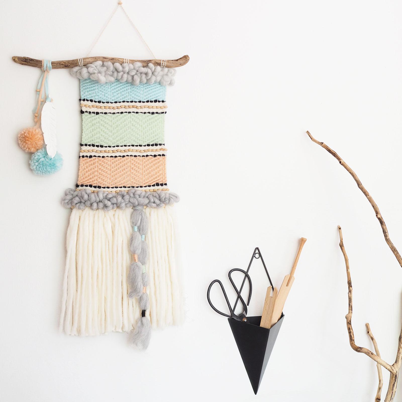 décoration tissage mural laine mérinos we are knitters mèche xxl laines plassard laboutiquedemelimelo